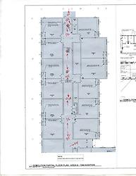 Sarah Gibbons Middle School Pre-Demolition Documentation. Key Plan Number 5 of 15