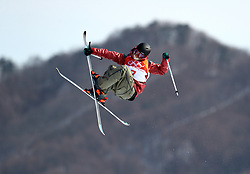 Canada's Teal Harle in action during the qualification runs of the Men's Ski Slopestyle at the Bogwang Snow Park during day nine of the PyeongChang 2018 Winter Olympic Games in South Korea. PRESS ASSOCIATION Photo. Picture date: Sunday February 18, 2018. See PA story OLYMPICS Slopestyle. Photo credit should read: Mike Egerton/PA Wire. RESTRICTIONS: Editorial use only. No commercial use.