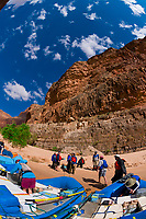 Whitewater rafting trip (oar trip) on the Colorado River in Marble Canyon, camping at 29 Mile Rapid, Grand Canyon National Park, Arizona USA