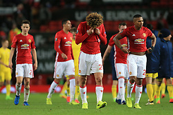 16th March 2017 - UEFA Europa League - Round of 16 - Manchester United v FK Rostov - Marouane Fellaini of Man Utd looks dejected despite his side's victory - Photo: Simon Stacpoole / Offside.