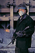 Krasnoyarsk, Russia, February 2000..Krasnoyarsk Aluminium Plant.