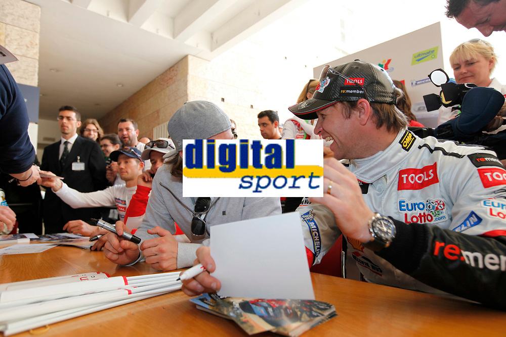 MOTORSPORT - WORLD RALLY CHAMPIONSHIP 2011 - RALLY DE PORTUGAL / RALLYE DU PORTUGAL - FARO (POR) - 24 TO 27/03/2011 - PHOTO : FRANCOIS BAUDIN / DPPI - <br /> 08 KIMI RÄIKKÖNEN (FIN) SOLBERG PETTER (NOR) - CITROËN DS 3 WRC - PETTER SOLBERG WRT - AMBIANCE PORTRAIT