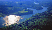 PA landscapes, Aerial Photograph, Blue Marsh Lake, Berks Co., Pennsylvania