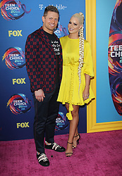 Fox Teen Choice Awards 2018. 12 Aug 2018 Pictured: Mike Mizanin, Maryse Mizanin. Photo credit: Jaxon / MEGA TheMegaAgency.com +1 888 505 6342