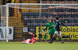 Ross County's Craig Curran (11) scoring their goal. <br /> Dundee 1 v 1 Ross County, SPFL Premiership game player 4/1/2015 at Dundee's home ground Dens Park.