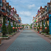 Empty walking street in Patong beach, Phuket, Thailand