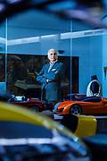 Milano , il collezionista di auto d'epoca Corrado Lopresto, nel suo studio di Milano