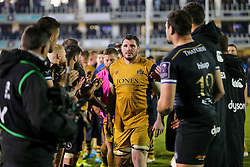 James Phillips of Bristol Rugby looks dejected after a 22-6 loss - Rogan Thomson/JMP - 20/10/2016 - RUGBY UNION - The Recreation Ground - Bath, England - Bath Rugby v Bristol Rugby - EPCR Challenge Cup.