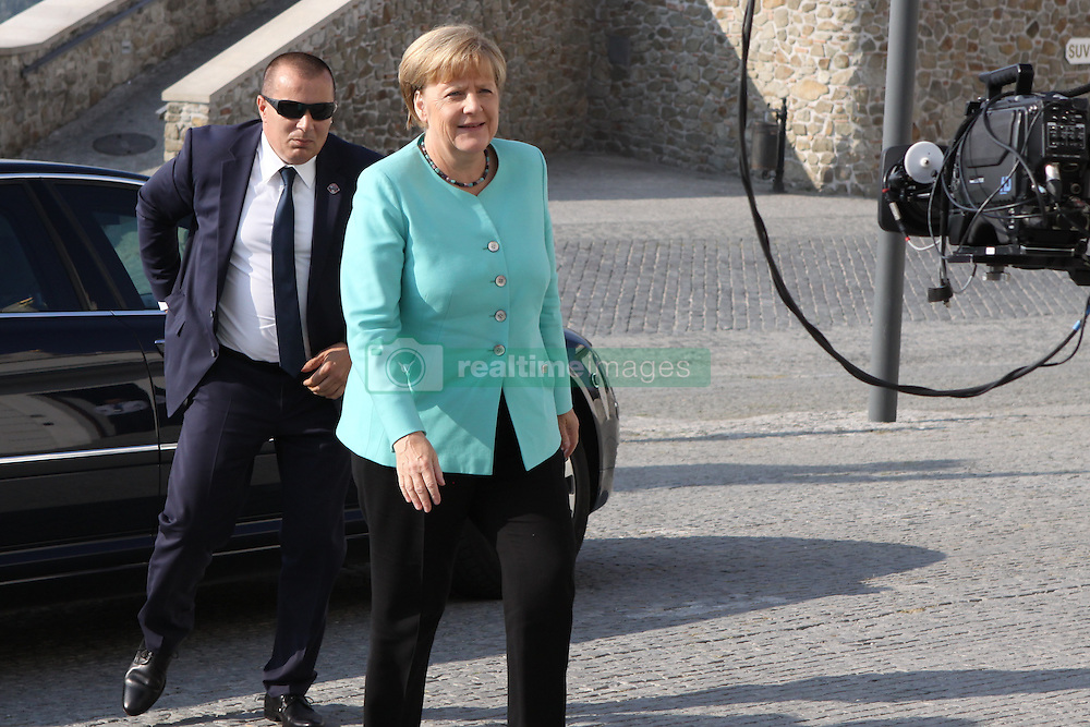 BRATISLAVA, Sept. 16, 2016 (Xinhua) -- German Chancellor Angela Merkel arrives at Bratislava Castle for an informal European Union (EU) summit in Bratislava, Slovakia, Sept. 16, 2016. The leaders of 27 EU countries want to showcase their unity and prove that the bloc is a unique project, Slovak Prime Minister Robert Fico said upon arrival at an informal EU summit held in Bratislava Friday. (Xinhua/Andrej Klizan) (Credit Image: © Andrej Klizan/Xinhua via ZUMA Wire)