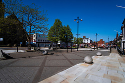 20 April 2020 Rotherham South Yorkshire - Week 5 of the UK emergency measures to combat the Coronavirus Covid-19 Pandemic. The view down Moorgate Street <br /> <br /> 20 April 2020<br /> <br /> www.pauldaviddrabble.co.uk<br /> All Images Copyright Paul David Drabble - <br /> All rights Reserved - <br /> Moral Rights Asserted -