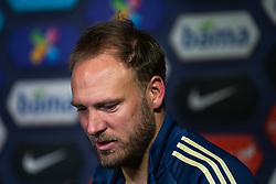 March 26, 2019 - Oslo, NORWAY - 190327 Andreas Granqvist of Sweden talks to the media in the mixed zone after the UEFA Euro qualifier football match between Norway and Sweden on March 26, 2019 in Oslo..Photo: Mathias Bergeld / BILDBYRÃ…N / Cop 200 (Credit Image: © Mathias Bergeld/Bildbyran via ZUMA Press)