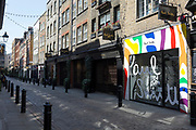 As the number of people dying with Covid-19 in hospitals in England rises by another 665 to 16,272, and the UK experiences further lockdown by the UK government due to the Coronavirus pandemic, the deserted streets, businesses and retailers including fashion brand Paul Smith in Floral Street near Covent Garden suffer further economic losses after forced closure, on 22nd April 2020, in London, England.
