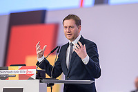 22 NOV 2019, LEIPZIG/GERMANY:<br /> Michael Kretschmer, CDU, Ministerpraesident Sachsen, haelt eine Rede, CDU Bundesparteitag, CCL Leipzig<br /> IMAGE: 20191122-01-032<br /> KEYWORDS: Parteitag, party congress, speech