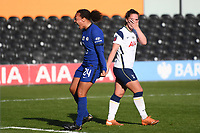 Football - 2020 / 2021 Barclays FA Women's Super League - Round 21 - Tottenham Hotspur vs Chelsea - The Hive Stadium<br /> <br /> Chelsea FC Women's Drew Spence celebrates the opening goal scored by Sam Kerr.<br /> <br /> COLORSPORT/ASHLEY WESTERN