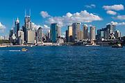 Views of Sydney cityscape from Kirribilli, Sydney, Australia.