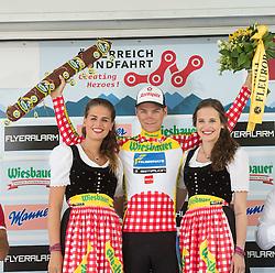 11.07.2015, Innsbruck, AUT, Österreich Radrundfahrt, 7. Etappe, von Kitzbühel nach Innsbruck, im Bild Felix Großschartner (AUT, 1. Platz Bergwertung) // Leader king of the mountains Felix Großschartner of Austria during the Tour of Austria, 7th Stage, from Kitzbühl to Innsbruck, Innsbruck, Austria on 2015/07/11. EXPA Pictures © 2015, PhotoCredit: EXPA/ Reinhard Eisenbauer