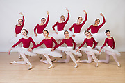 The Dance Company of Los Gatos students pose for portraits during Photo Day at The Dance Company of Los Gatos in Los Gatos, California, on June 5, 2017. (Stan Olszewski/SOSKIphoto)