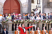 Koninginnedag 2007 in 's Hertogenbosch / Queensday 2007 in the city of 's Hertogenbosch Op de foto/On the photo: Koningin (queen) Beatrix<br />