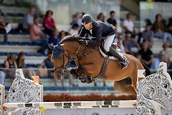 Kuijpers Leon, NED, Karlijne<br /> Nationaal Kampioenschap KWPN<br /> 5 jarigen springen final<br /> Stal Tops - Valkenswaard 2020<br /> © Hippo Foto - Dirk Caremans<br /> 19/08/2020