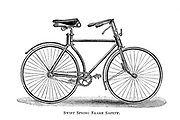 Swift Spring Frame Safety Bicycle From Wheels and Wheeling; An indispensable handbook for cyclists, with over two hundred illustrations by Porter, Luther Henry. Published in Boston in 1892