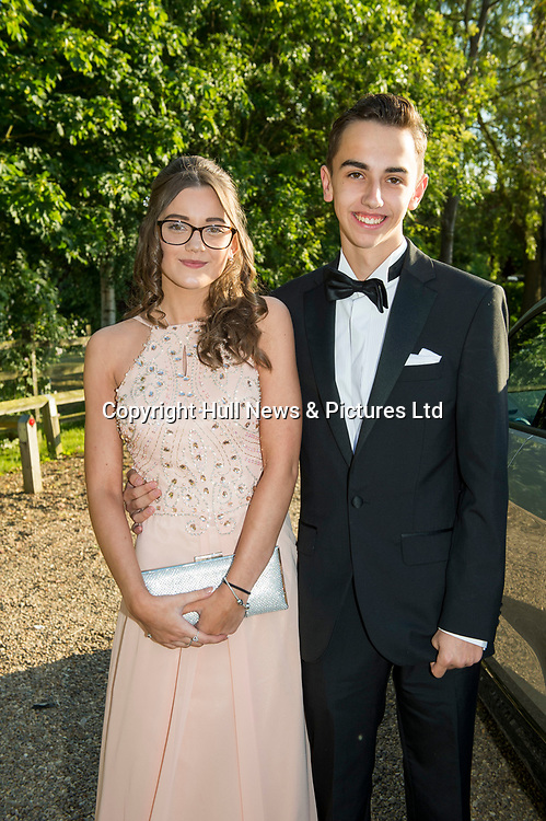 21 JUne 2019: Louth Academy Year 11 Prom at Brackenborough Hotel.<br /> Emily Couling and Jack Dalton. <br /> Picture: Sean Spencer/Hull News & Pictures Ltd<br /> 01482 210267/07976 433960<br /> www.hullnews.co.uk         sean@hullnews.co.uk