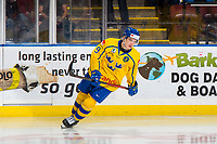 KELOWNA, BC - DECEMBER 18:  Nils Lundkvist #9 of Team Sweden skates against the Team Russia at Prospera Place on December 18, 2018 in Kelowna, Canada. (Photo by Marissa Baecker/Getty Images)***Local Caption***