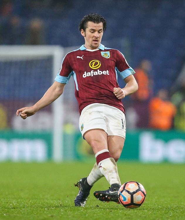 Burnley's Joey Barton in action<br /> <br /> Photographer Alex Dodd/CameraSport<br /> <br /> Emirates FA Cup Third Round Replay - Burnley v Sunderland - Tuesday 17th January 2017 - Turf Moor - Burnley<br />  <br /> World Copyright © 2017 CameraSport. All rights reserved. 43 Linden Ave. Countesthorpe. Leicester. England. LE8 5PG - Tel: +44 (0) 116 277 4147 - admin@camerasport.com - www.camerasport.com
