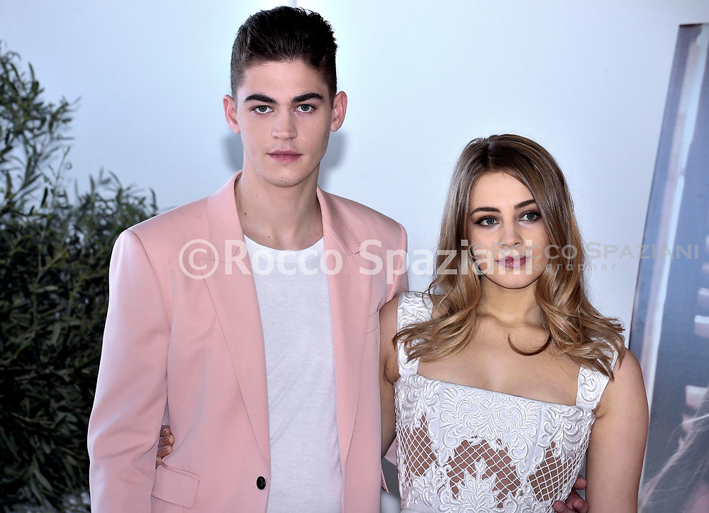 Actress Josephine Langford and actor Hero Fiennes Tiffin attend 'After Movie (After) photocall at the Rome Italy on March 31, 2019