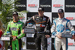 LONG BEACH, CA - APR 15: IndyCar Series driver Will Power celebrates after winning the 2012 Toyota Grand Prix of Long Beach. All fees must be ageed prior to publication,.Byline and/or web usage link must  read SILVEX.PHOTOSHELTER.COM Photo by Eduardo E. Silva