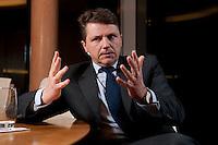26 FEB 2009, BERLIN/GERMANY:<br /> Stephan Sturm, CFO Fresenius SE, waehrend einem Interview, nach der Preisverleihung des Best of European Business Awards, Franzoesische Botschaft<br /> IMAGE: 20090226-03-019