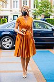 Koningin Maxima tijdens het jubileumcongres '70 jaar SER