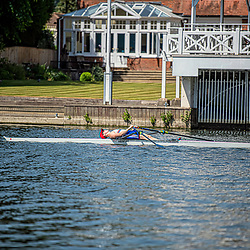 Canoeists take to the water in Henley on Thames during the lockdown period May 28 2020