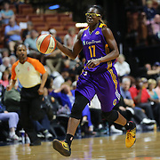 UNCASVILLE, CONNECTICUT- MAY 26: Essence Carson #17 of the Los Angeles Sparks in action during the Los Angeles Sparks Vs Connecticut Sun, WNBA regular season game at Mohegan Sun Arena on May 26, 2016 in Uncasville, Connecticut. (Photo by Tim Clayton/Corbis via Getty Images)