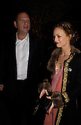 Harvey Weinstein and Vanessa Paradis, Finding Neverland UK charity premiere after-party. Coram's Fields. Guilford St. WC1. 17 October 2004.  ONE TIME USE ONLY - DO NOT ARCHIVE  © Copyright Photograph by Dafydd Jones 66 Stockwell Park Rd. London SW9 0DA Tel 020 7733 0108 www.dafjones.com
