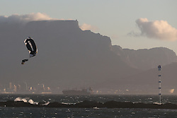 Steven Akkerdijk of Holland during the Red Bull King of the Air kiteboarding competition held at Big Bay in Cape Town, South Africa on the 2nd February 2017.<br /> <br /> Photo by Shaun Roy