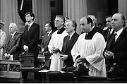 Mass For The 26th Dail.     (T3)..1989..29.06.1989..06.29.1989..29th June 1989..After the General Election  a mass took place today at the Pro-Cathedral in Dublin. The mass was to bless   the incoming TD's who were successful in their election to the Dáil...A general view of those elected at mass in the Pro-Cathedral.