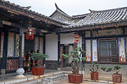 Interior courtyard, Zhu Family house, Jianshui Ancient Town, Yunnan Province, China