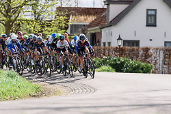 Alexis Ryan and Elena Cecchini (CANYON//SRAM Racing) at Omloop van Borsele 2016. A 139 km road race starting and finishing in 's-Heerenhoek, Netherlands on 23rd April 2016.