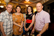 """19/7/2011. Frank and Mary Grealish Kilcolgan with Christine and Alan Moran from Galway city  in McSwiggans for the pre show reception of Propellors """"Comedy of Errors"""" by Shakspeare in the Galway Arts Festival, sponsored by Ulster Bank. Photo:Andrew Downes"""