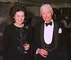 SIR CHRISTOPHER & LADY LEVER at an exhibition in London on 1st December 1998.MMM 3