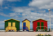 Change rooms on Muizenberg beach, Cape Town, South Africa. Images by Greg Beadle