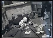 spilling beans Japan ca 1950s