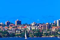 Residential buildings along Sydney Harbor, Sydney, New South Wales, Australia