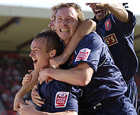 Photo: Jonathan Butler.<br /> Swindon Town v Walsall. Coca Cola League 2. 05/05/2007.<br /> Dean Keates of Walsall celebrates after scoring .