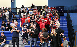 The Bristol Flyers supporters applaud the players at the end of the match - Photo mandatory by-line: Arron Gent/JMP - 28/04/2019 - BASKETBALL - Surrey Sports Park - Guildford, England - Surrey Scorchers v Bristol Flyers - British Basketball League Championship