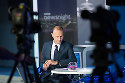 © Licensed to London News Pictures . 29/09/2014 . Birmingham , UK . EVAN DAVIS on the Newsnight set at the Conservative Party Conference , on his first night as presenter replacing Jeremy Paxman . Photo credit : Joel Goodman/LNP