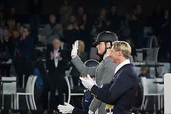 Podium Kur<br /> 1. Heijkoop Danielle<br /> 2. Cornelissen Adelinde<br /> 3. Kittel Patrick<br /> Vlaanderens Kerstjumping, Memorial Eric Wauters - Mechelen 2014<br /> ©  Dirk Caremans