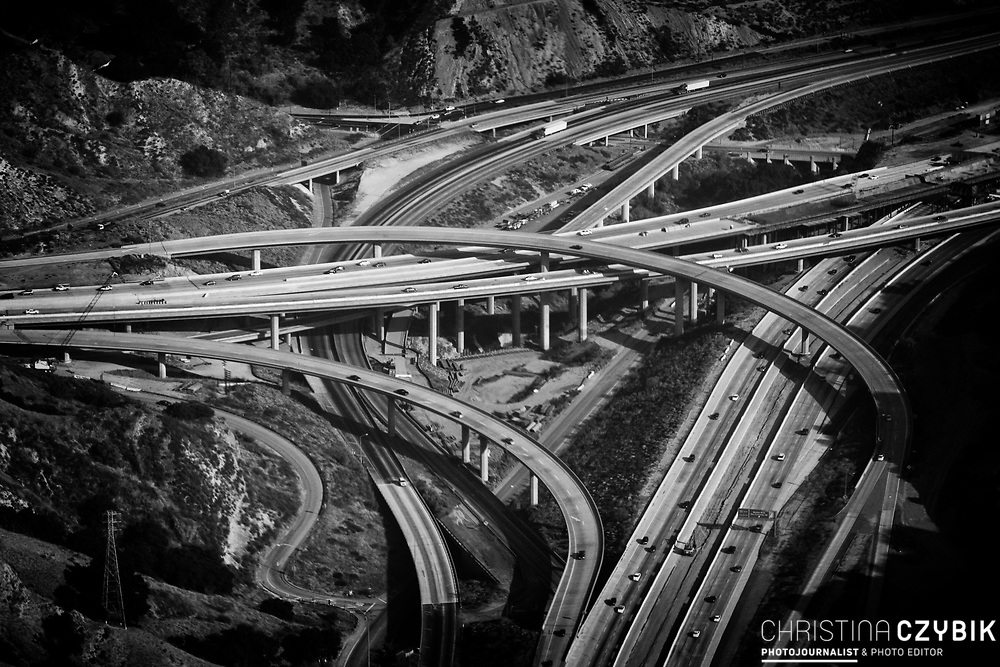 Areal View on a Freeway