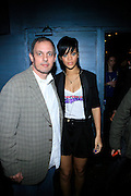 """Rihanna and Ron Ari of Highline Ballroom at The Island Def Jam & Escada Moon Sparkle Present """" A Girls Night Out """" in support of Rihanna's Believe Foundation held at The Highline Ballroom on April 9, 2008"""