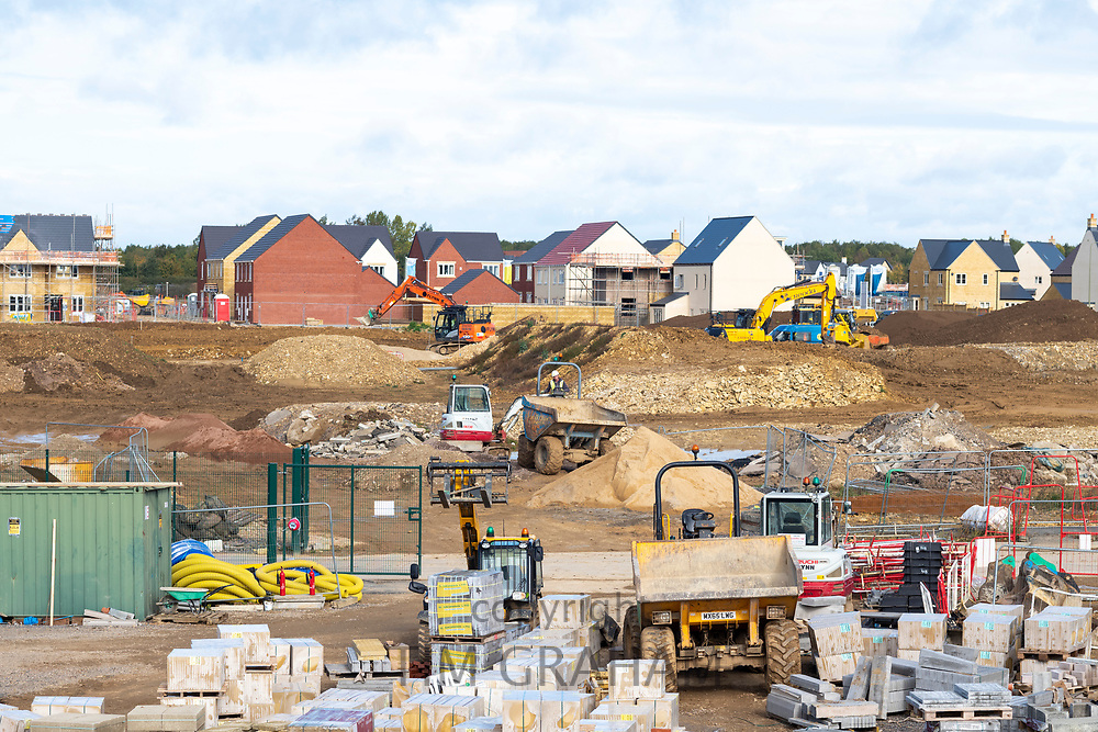 New housing development at West Witney on the outskirts of Oxford, West Oxfordshire, England due to population growth